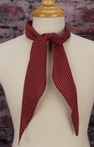 Burgundy with dots